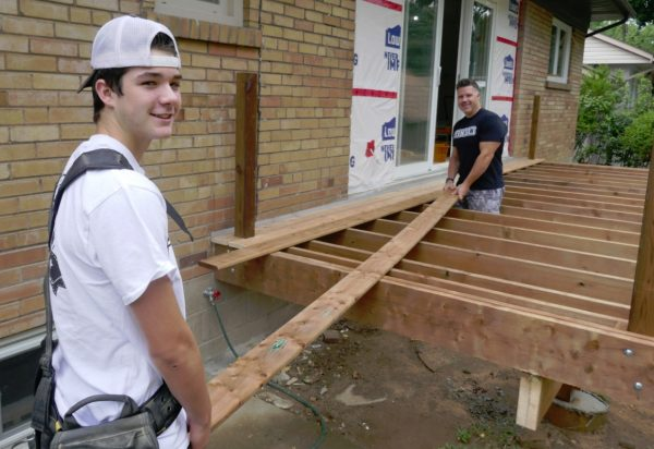 wooden decks backyard capital building project