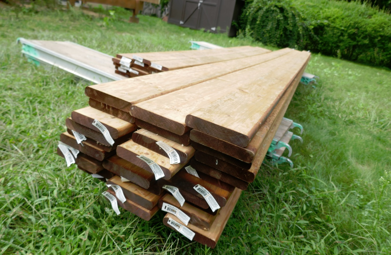 lumber for decks is pressure treated pine or spruce
